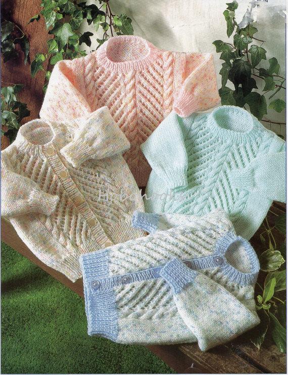 B8090 Baby Knitting Pattern Childrens Knitting Pattern Sweater