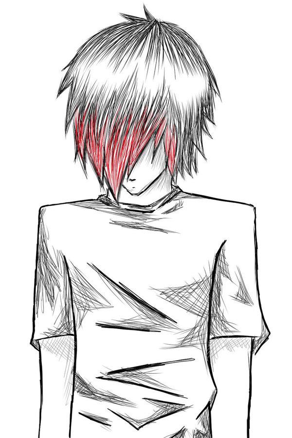 Картинки для срисовки аниме парни карандашом