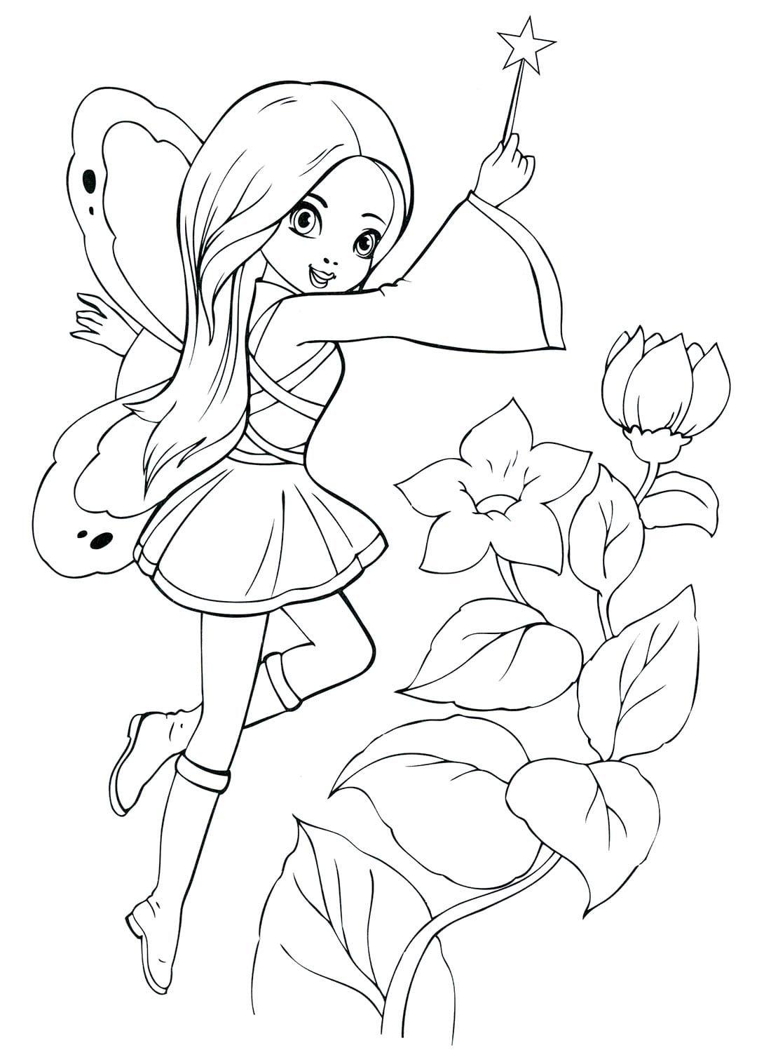 «Раскраска Новогодняя Фея Раскраски феи для детей ...