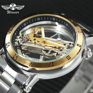 e547a2420a2b 25 карточек в коллекции «Часы Winner Skeleton Luxury Gold Купить ...