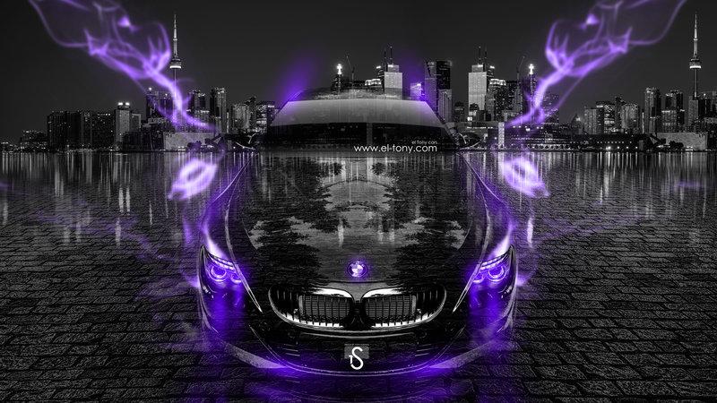 Beautiful BMW M6 Crystal City Violet Energy Car 2014