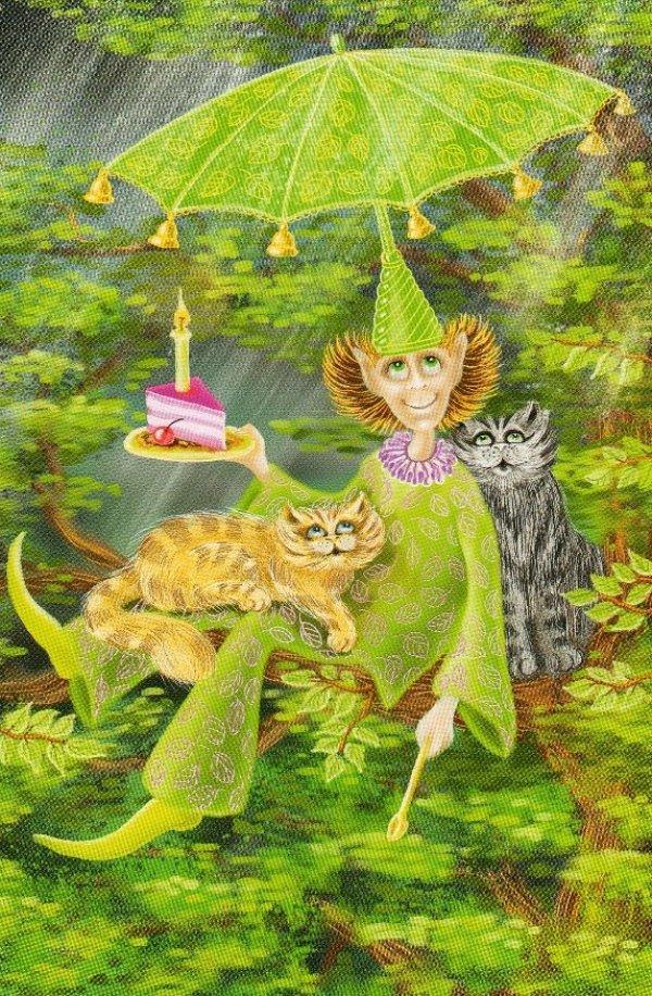 Открытки поздравлениями, картинки с днем рождения волшебные и загадочные