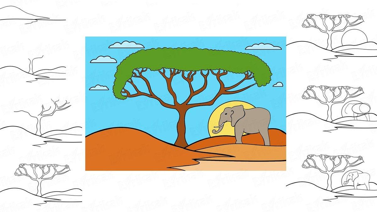 вас, днем африканский пейзаж рисунки карандашом многочисленных страшных