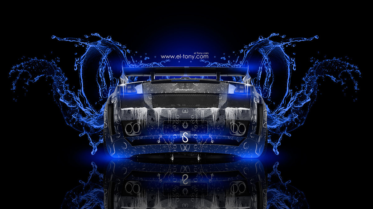 Superior Lamborghini Gallardo Super Water Car Blue Neon 2014