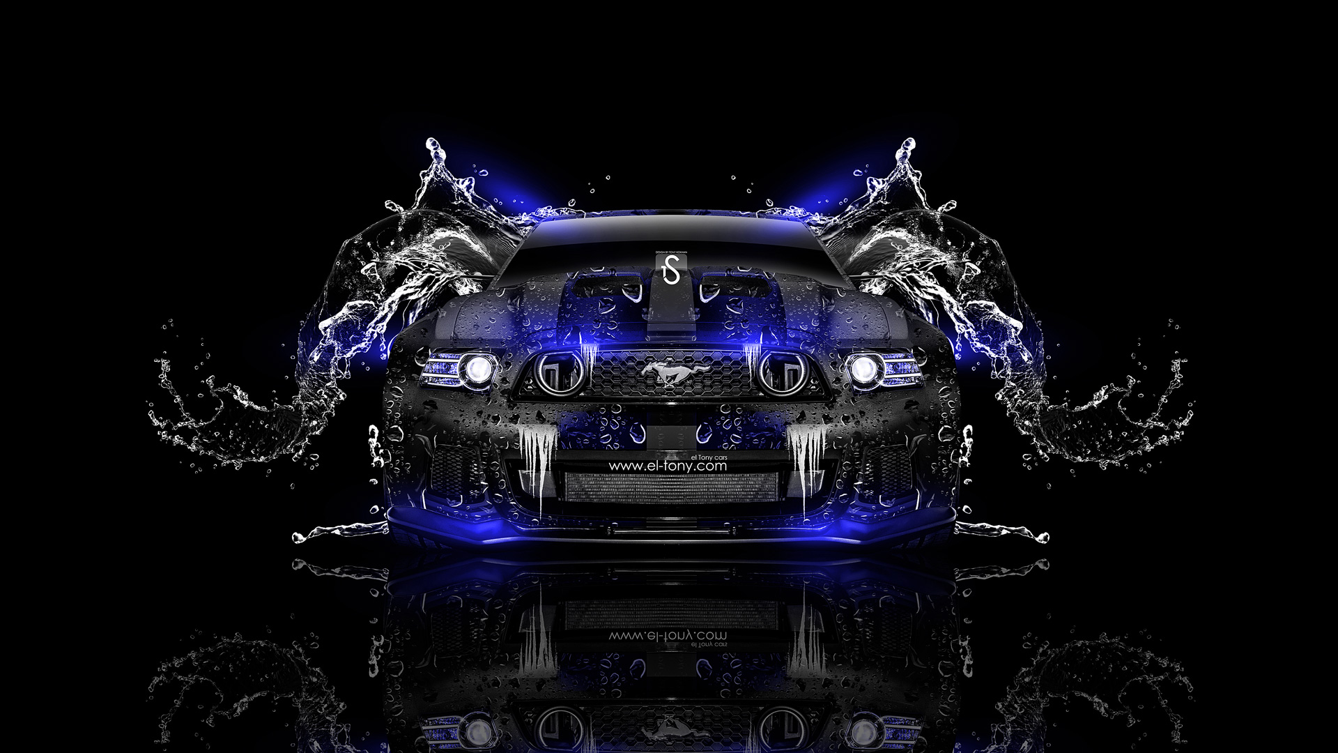 Ford Mustang GT Water Car 2014 Blue Neon Design By Tony Kokhan Www ...