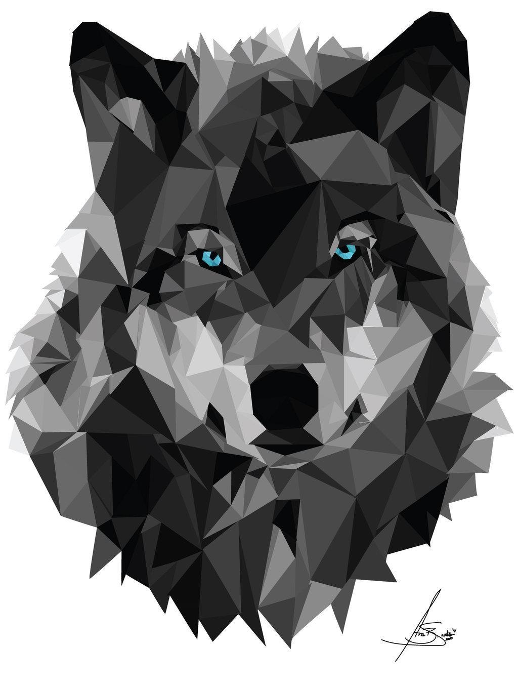 картинка волк абстракция поозерье уникальный