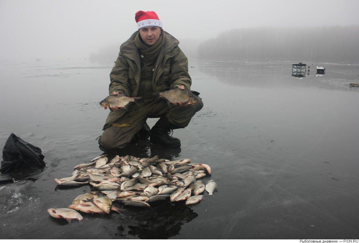 Рыбалка зимой на десногорском водохранилище