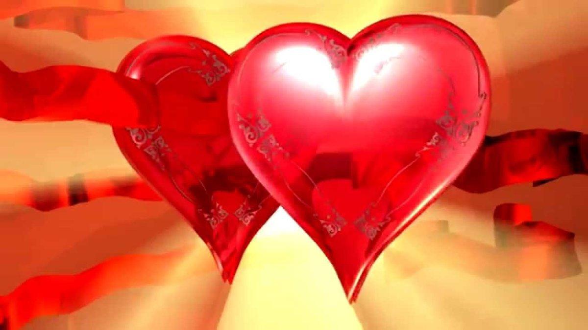 Открытки, картинка два сердца вместе я тебя люблю анимация