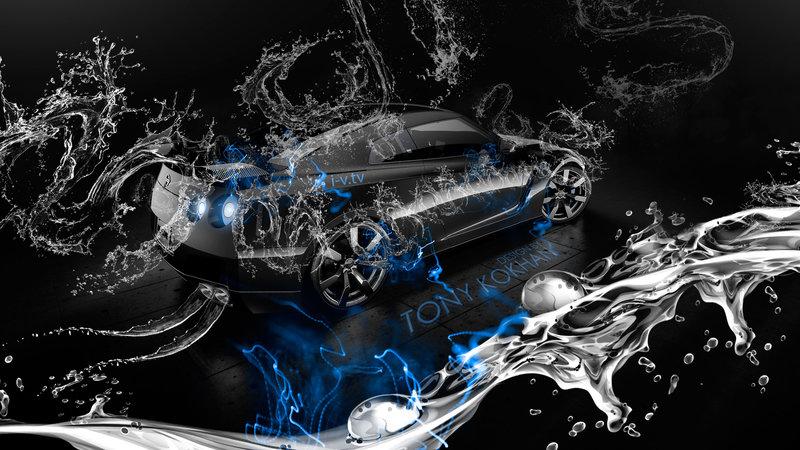 Attractive Nissan GTR R35 Super Water Car 2015 Blue