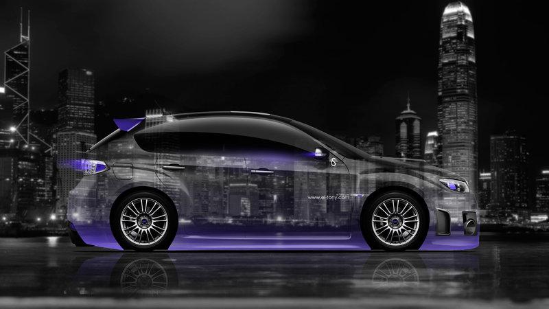 Perfect Subaru Impreza WRX STI JDM Side Crystal City