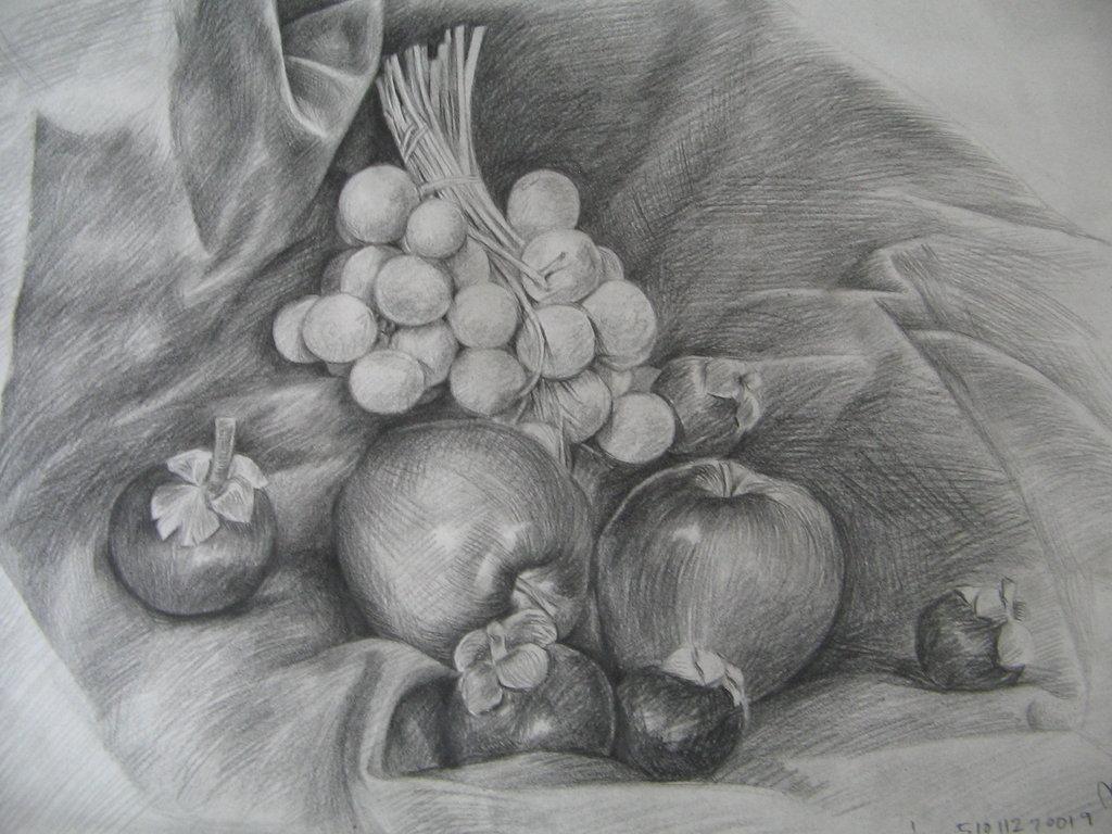 Картинки для рисование карандашом фрукты