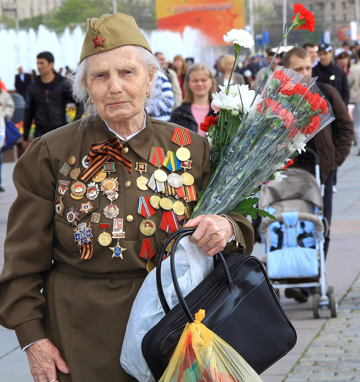Поздравления для женщины ветерана