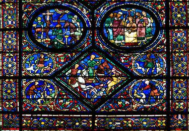 витражи французских готических соборов