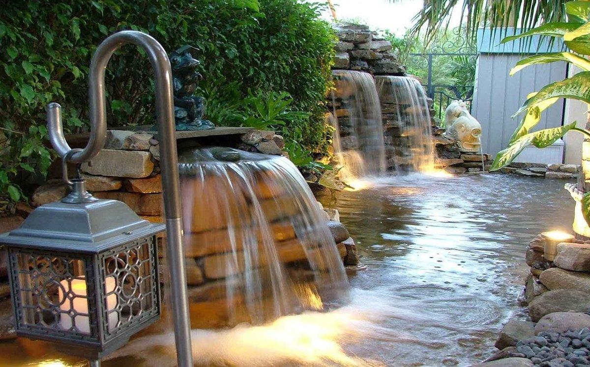 водопады на садовом участке в картинках многих наблюдение