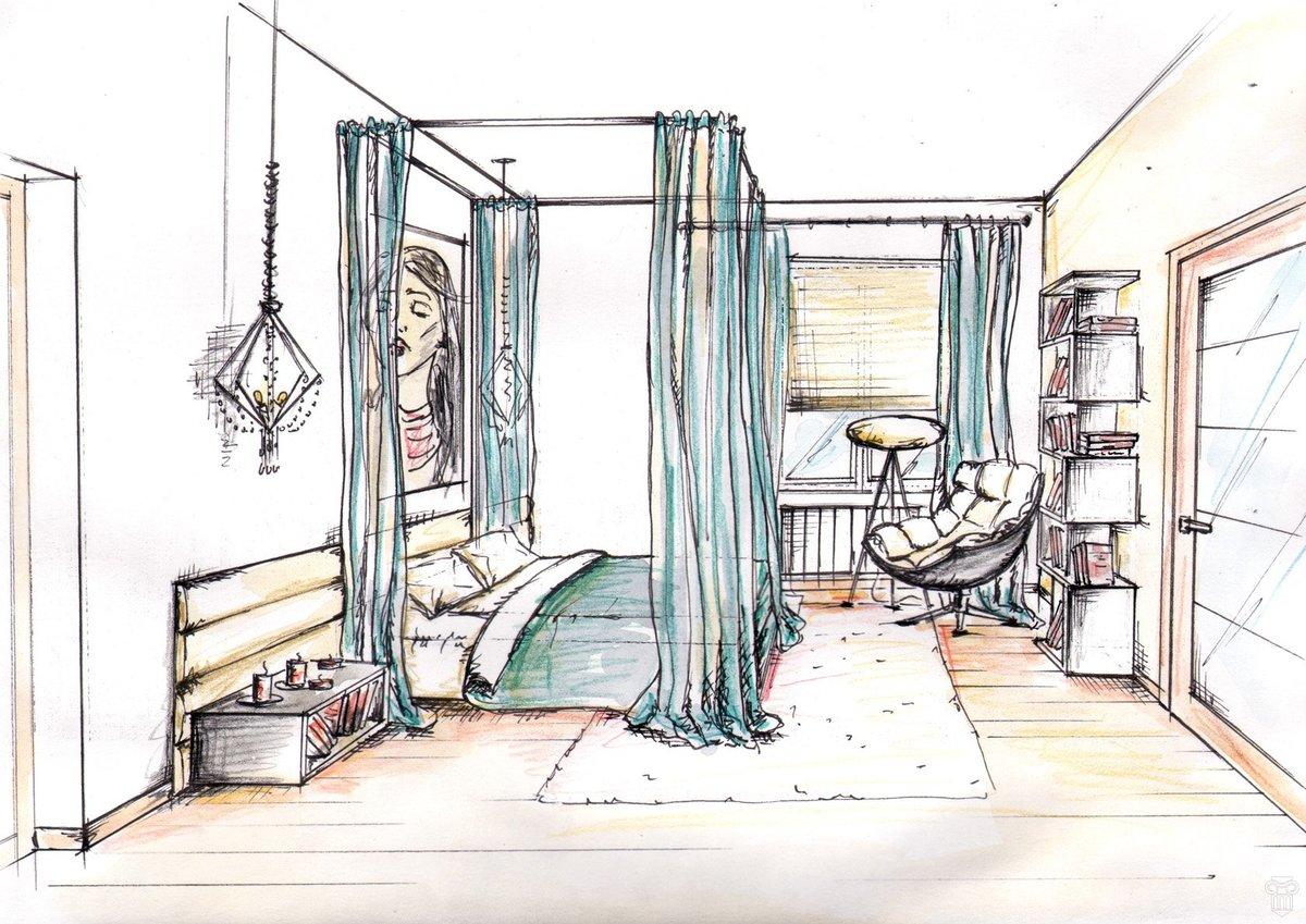 высшим оксфордским рисунки интерьеров комнат сам