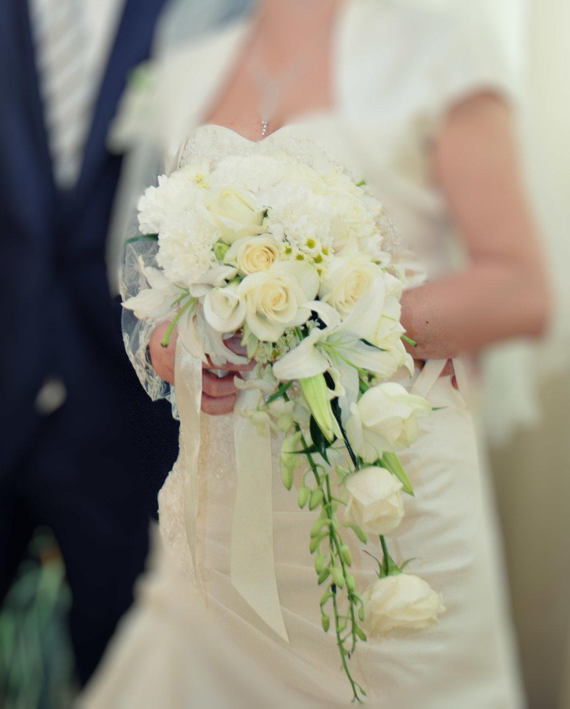 Букет невесты-каскадом