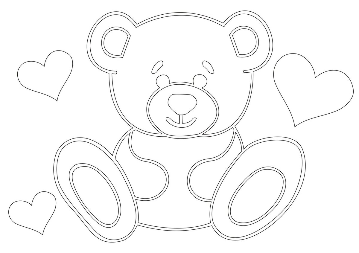 Открытка, игрушка картинки для срисовки