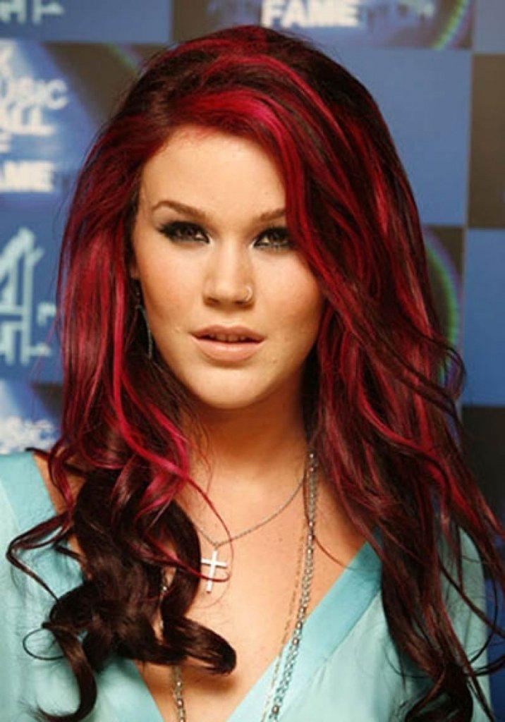 мелирование красных волос фото здесь