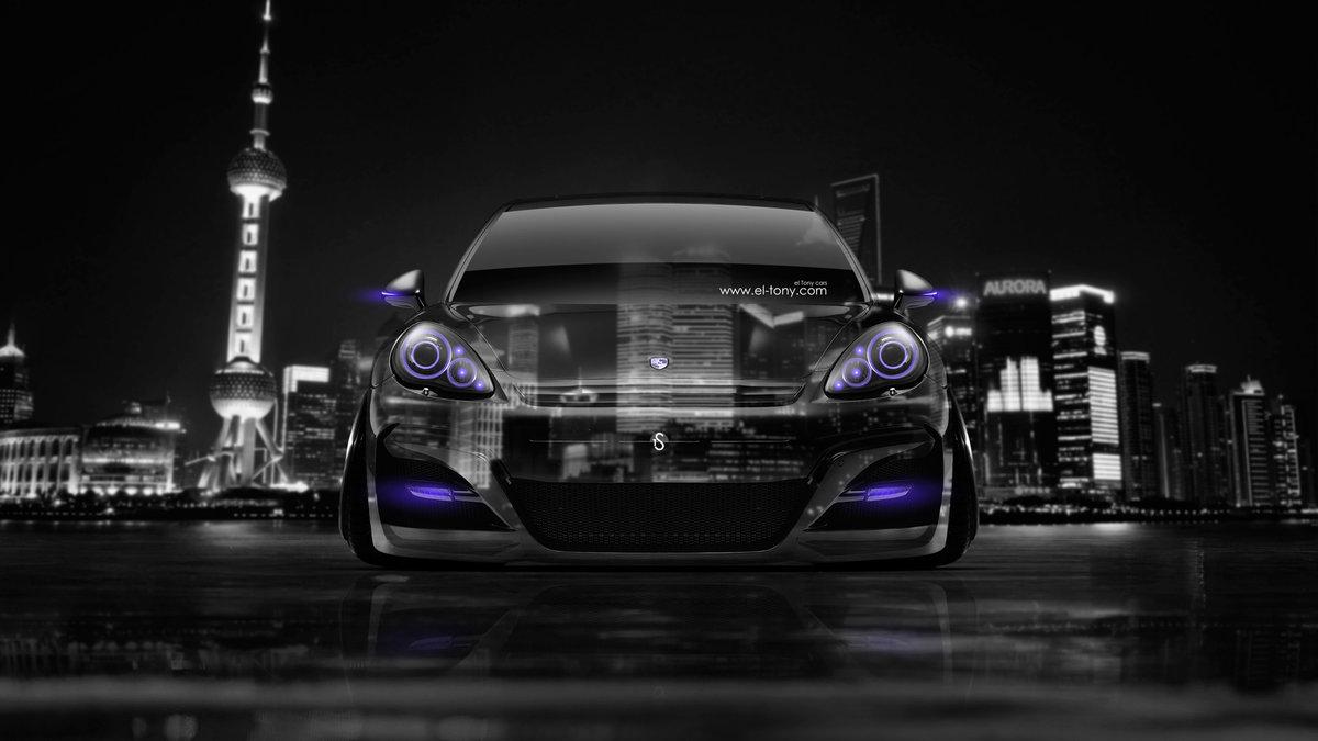 Porsche Panamera Front Crystal City Car 2014 Violet
