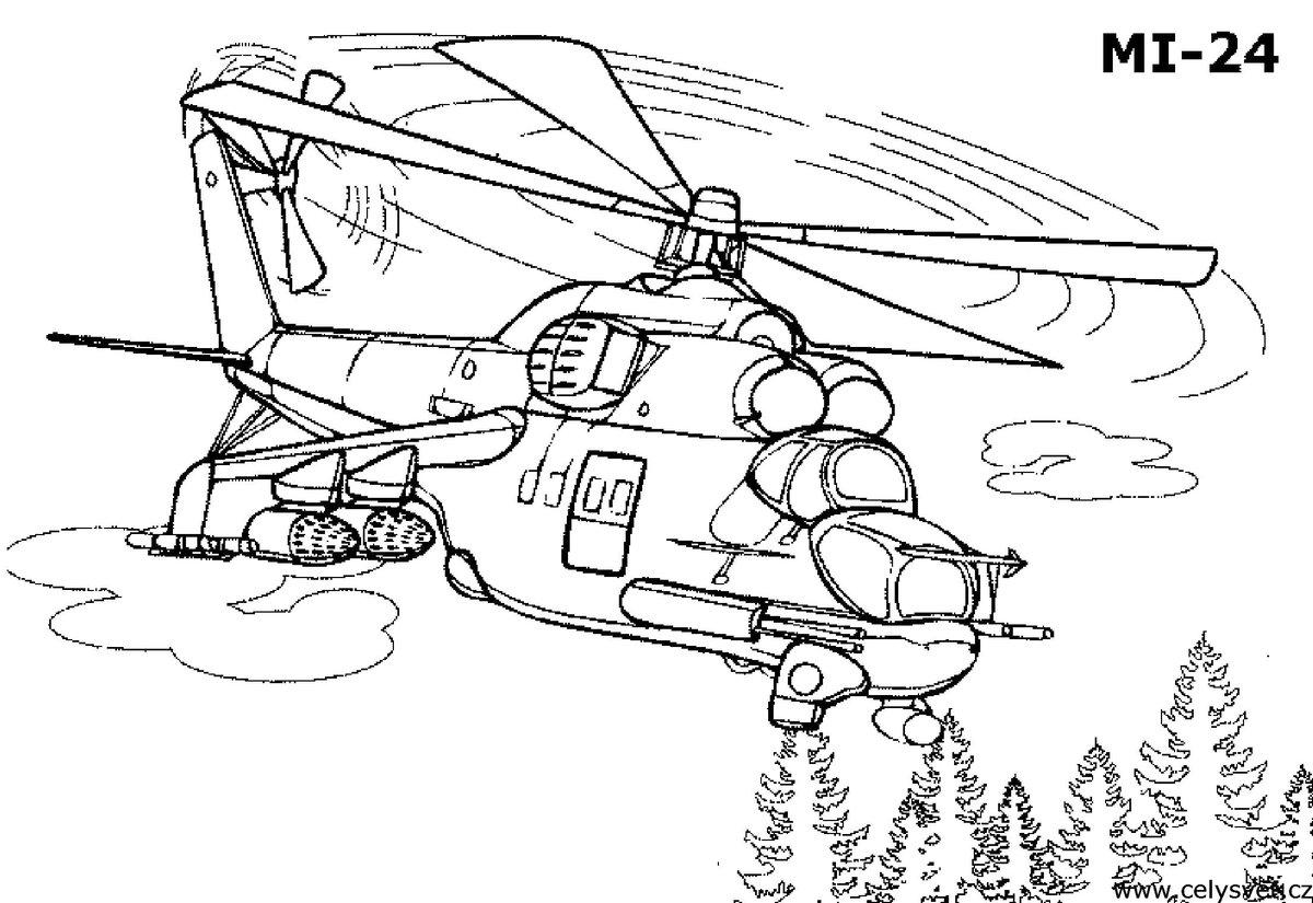 Военный вертолет картинки для выжигания