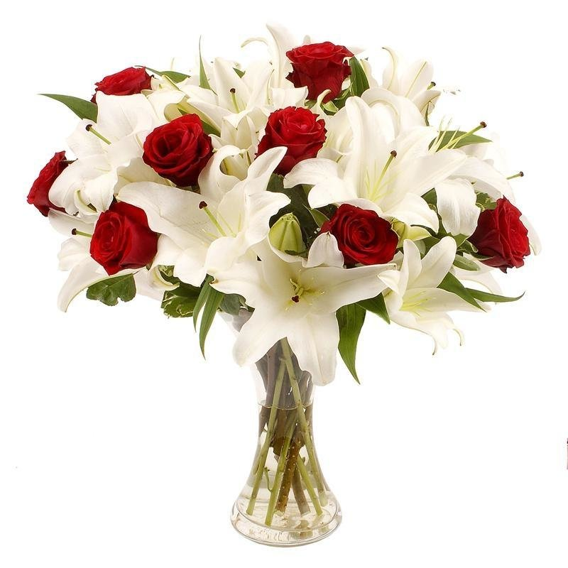 Букеты с лилией и розами, букет