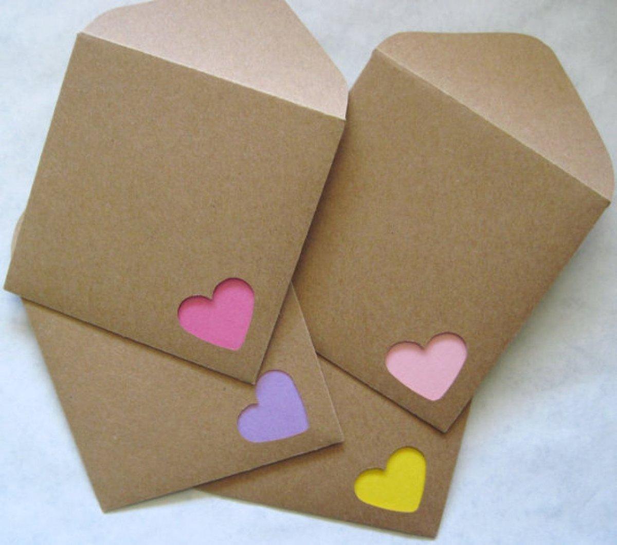 Как сделать маленькие конвертики в открытку