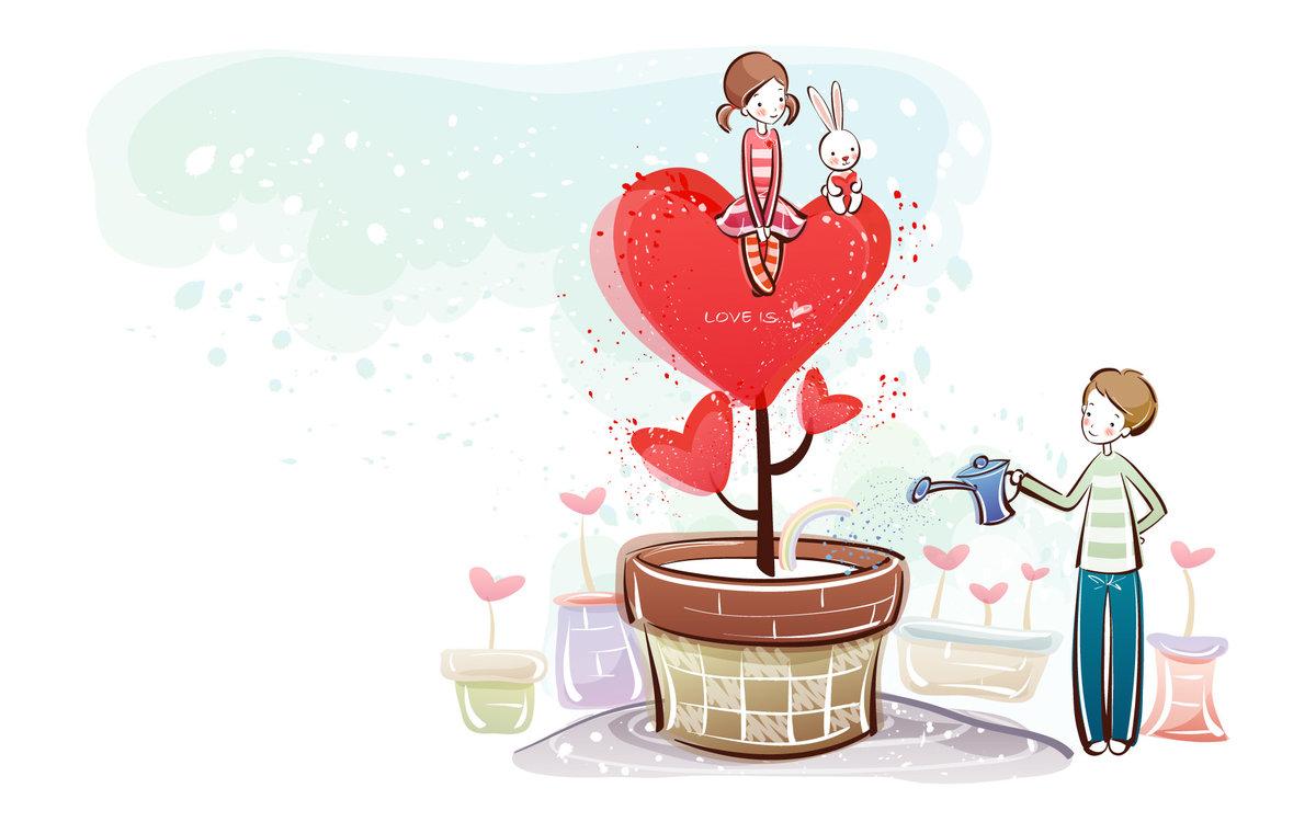 Нарисовать картинки с днем влюбленных прикольные, береста листьями открытка