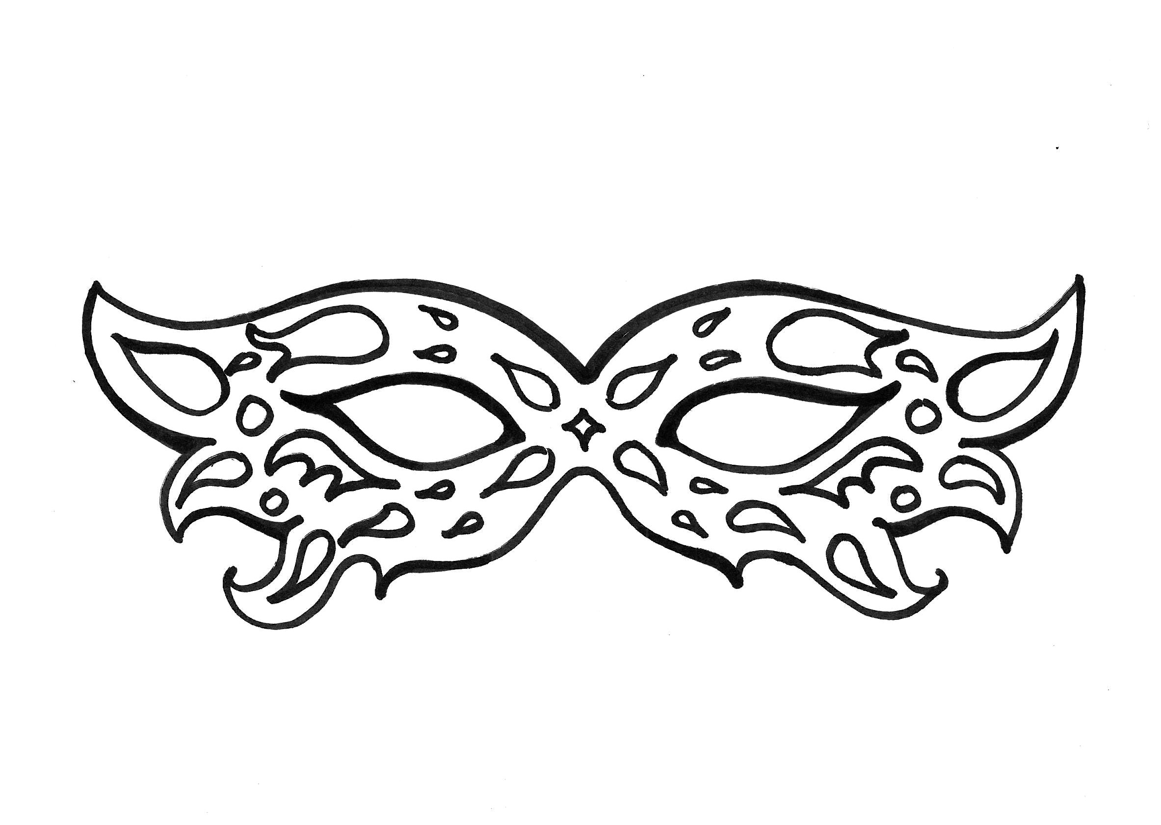 Mardi Gras Mask Coloring Page Coloring Home Card From User