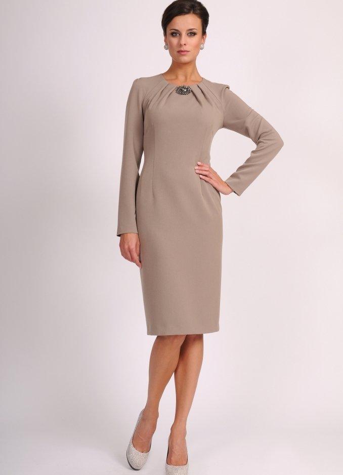 платье с длинным рукавом фото классика камин