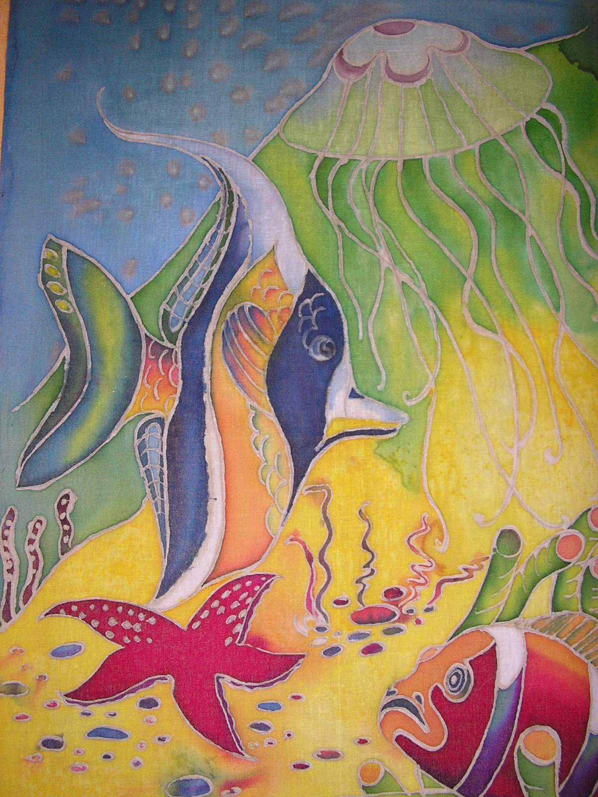 Картинки рыбок на батик