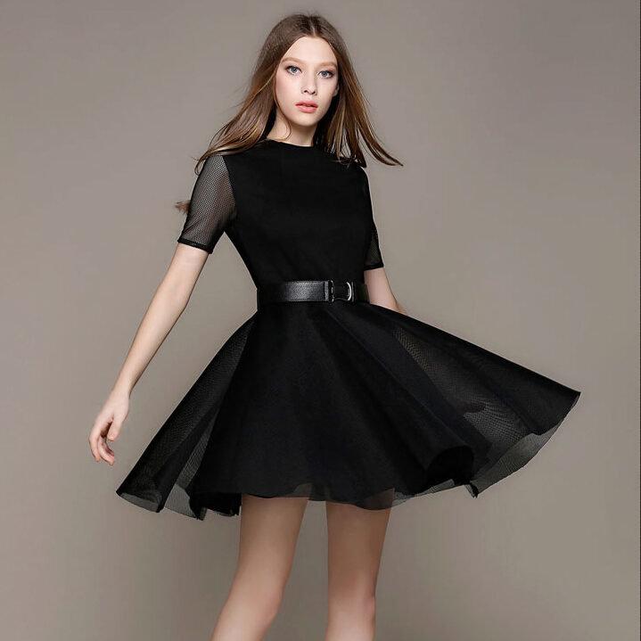 e0827668354 Черное платье с юбкой солнце» — карточка пользователя olia.lukyan4uk ...