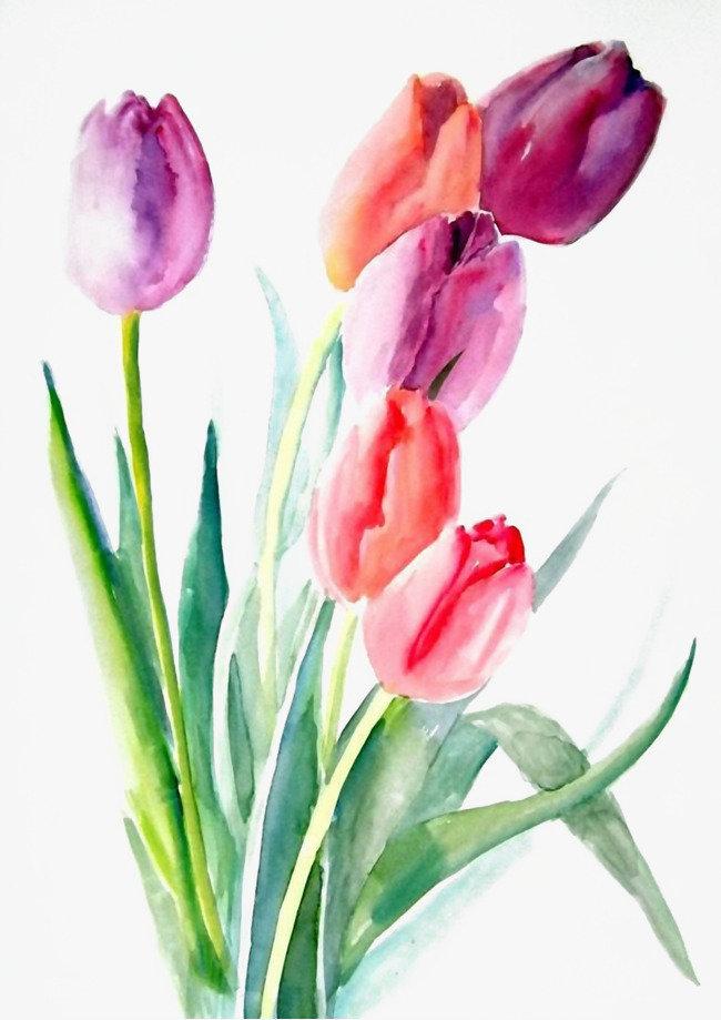 Открытка тюльпаны рисунок, картинки ждите