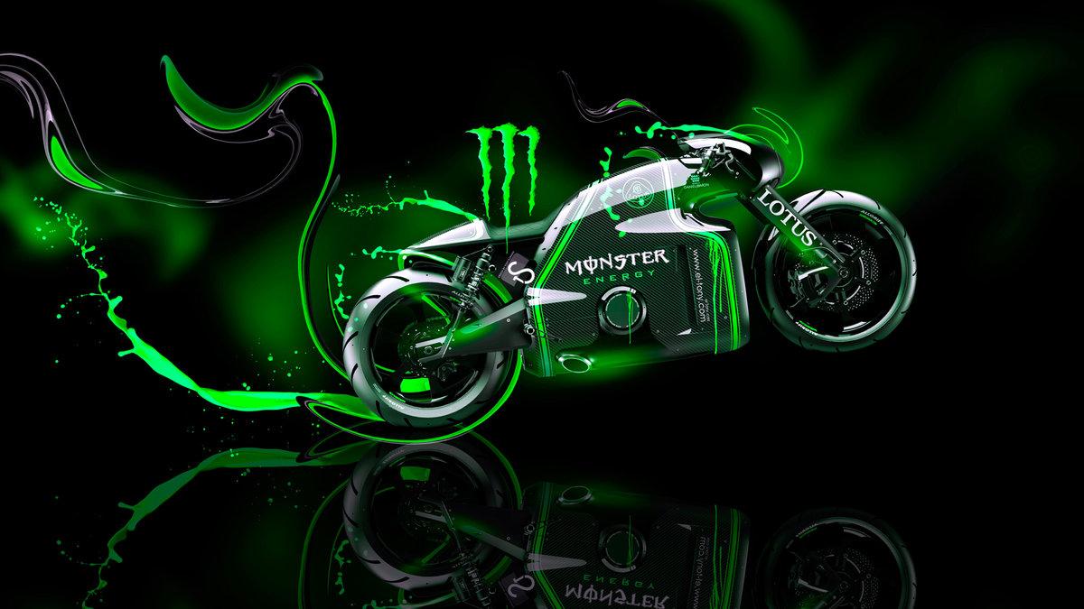 Monster Energy Lotus C 01 Fantasy Plastic Bike