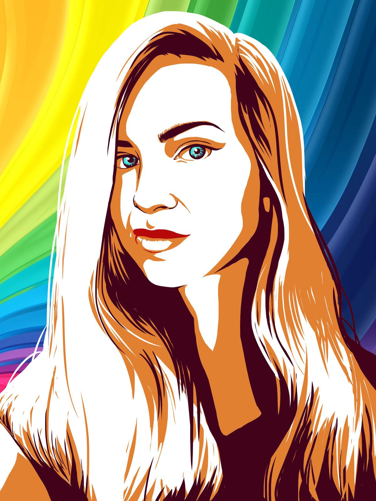 Марта коллегам, поп-арт картинки своими руками рисовать