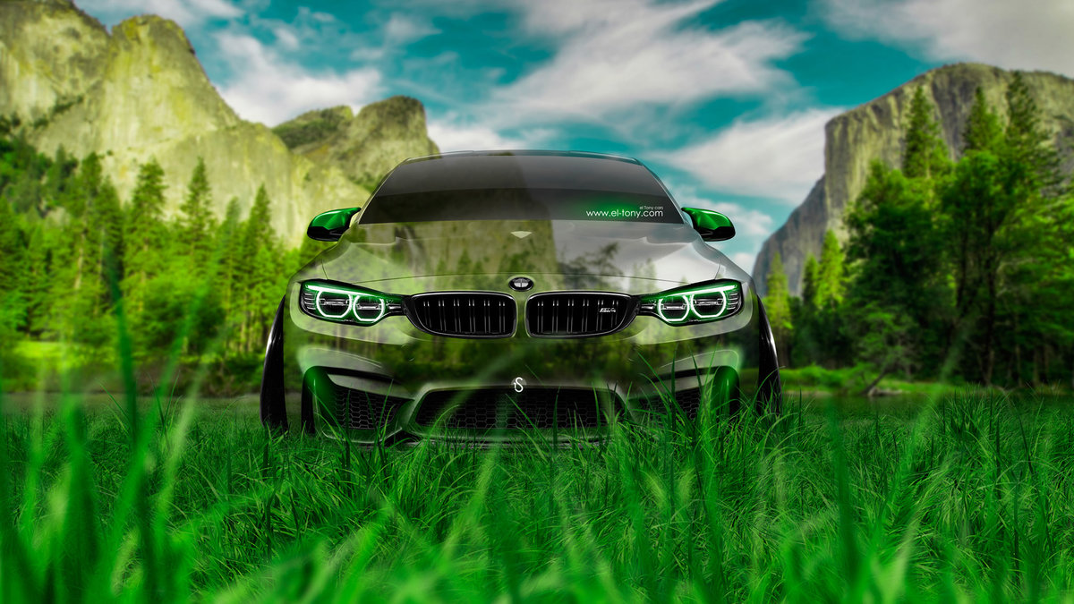 Attractive BMW M4 Front Crystal Nature Car 2014 HD