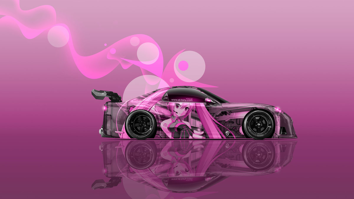 Mazda RX7 VeilSide JDM Tuning Side Anime Girl