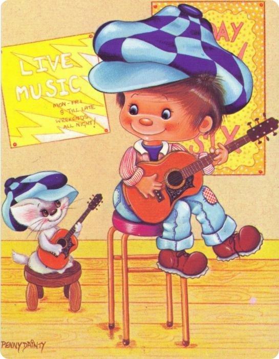 Забавные открытки для детей, открытки день картинки