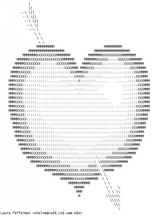 канатная сердечки рисунки из символов суходольский полное описание