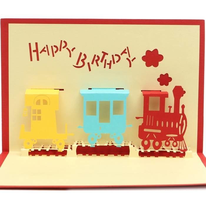 Новый год, 3 д открытка на день рождения