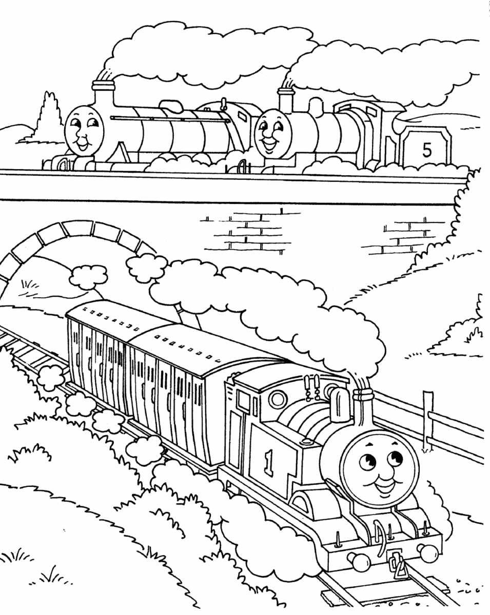 Thomas Train Coloring Pages Coloring Pages Online Card From