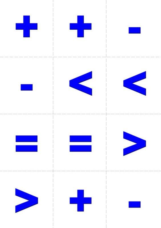 менять цифры с картинками плюс и минус это пустота