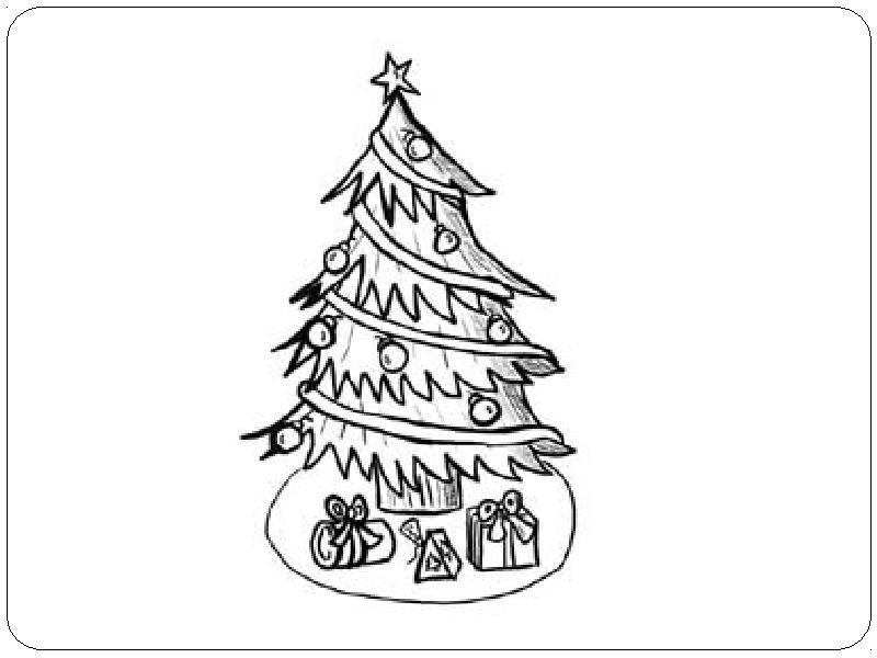 Открытки с елкой нарисованная карандашами
