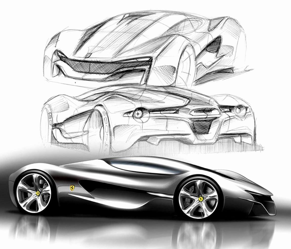 что как дизайнеры рисуют эскизы спорткаров фото отрывая листа бумаги