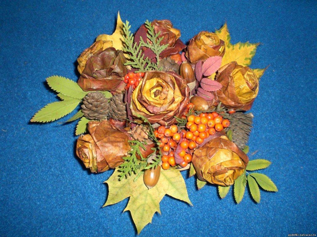 Букет для осеннего бала, яблоками фото мини-букеты