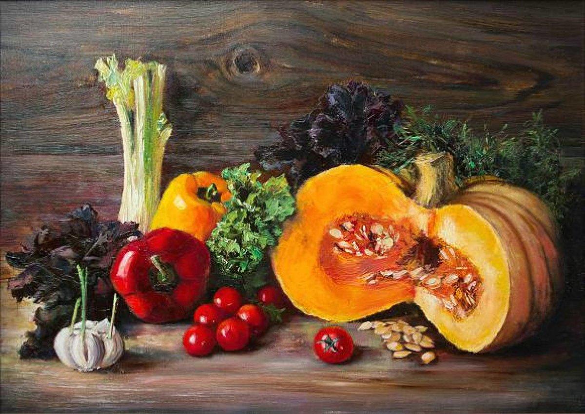 Живопись картинки фрукты и овощи