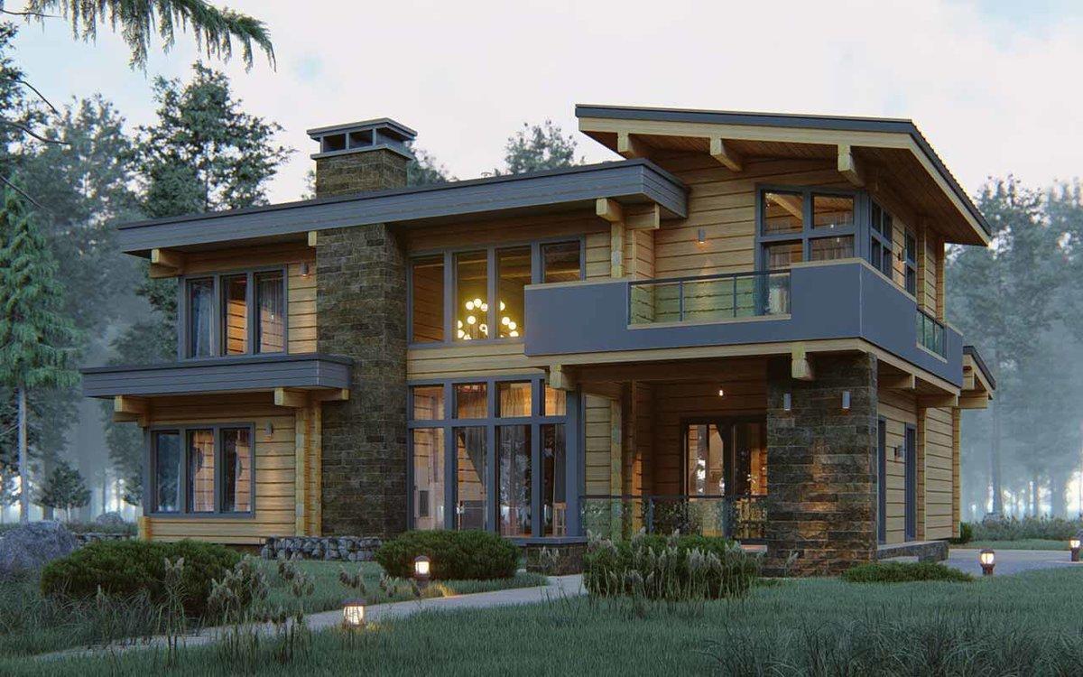 Современные проекты домов из клееного бруса фото