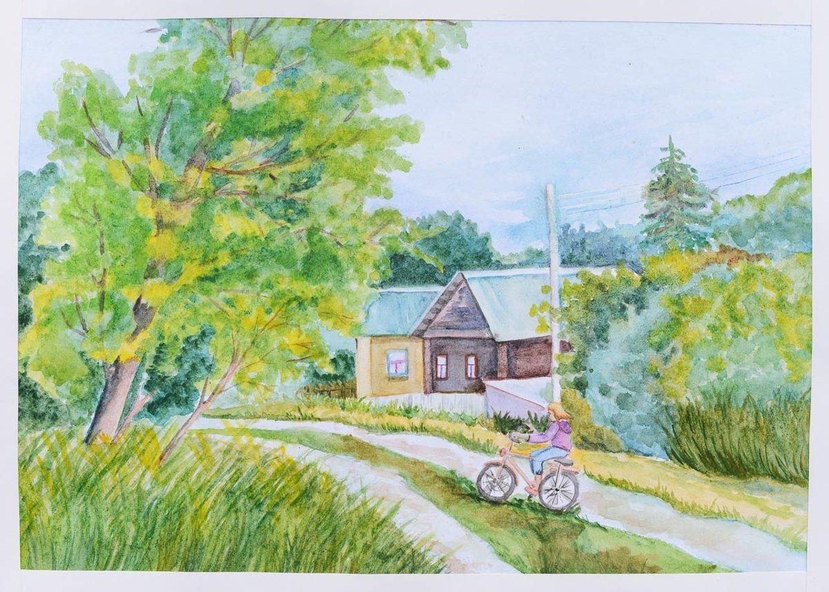 Рисунки по теме пейзаж картинки