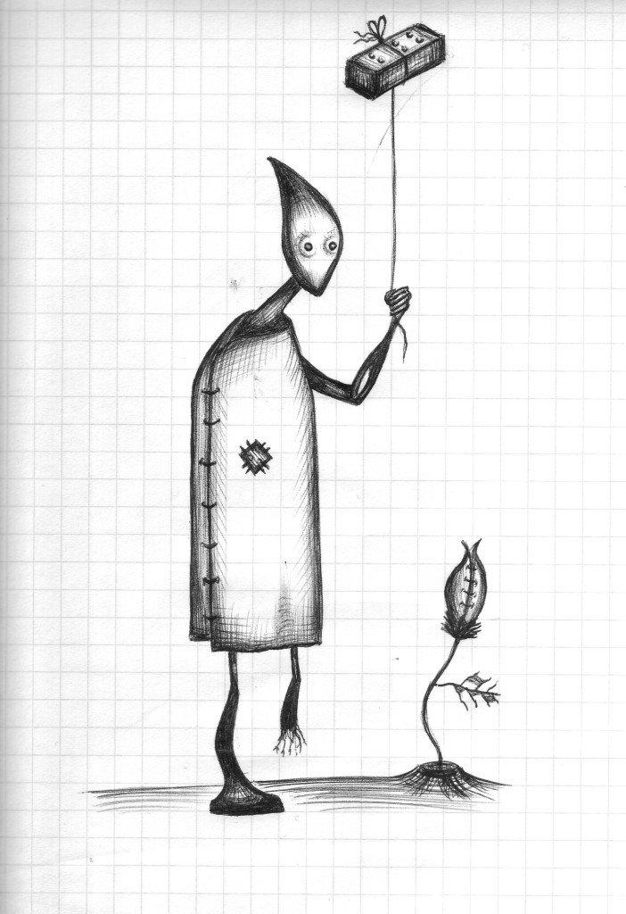 нашим рисунок с ручкой со смыслом носит прически