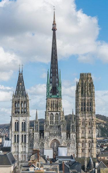 руанский собор шпиль