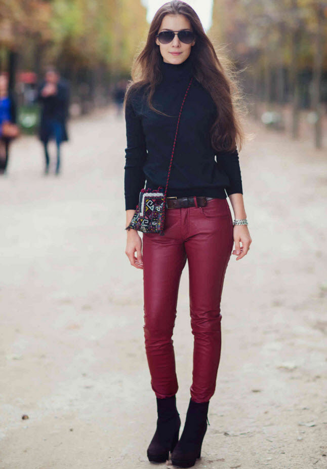 роль победе бордовые брюки фото с чем носить холодные места